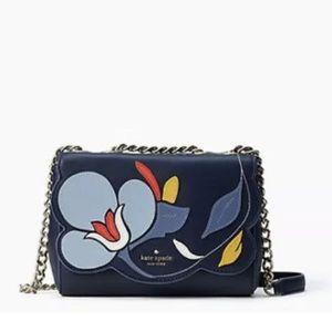HP🎉 NWOT Kate Spade Floral Blue Chain Purse Bag
